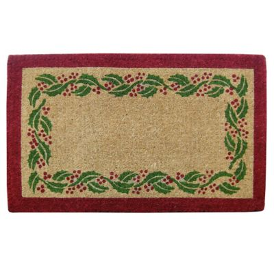 Holly Ivy Border Door Mat