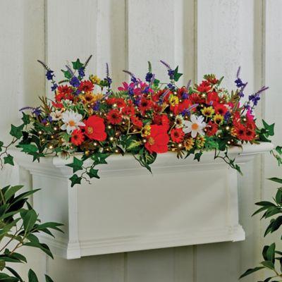 Lighted Wildflower Window Box Filler