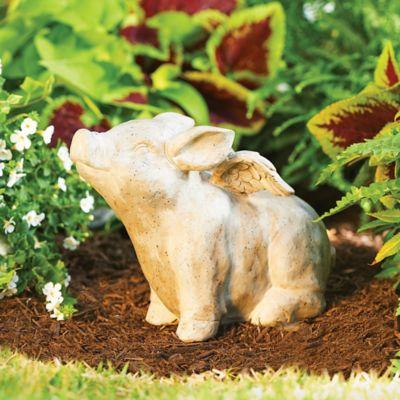 When Pigs Fly Garden Statue