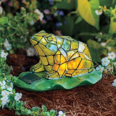 Mosaic Frog Garden Statue