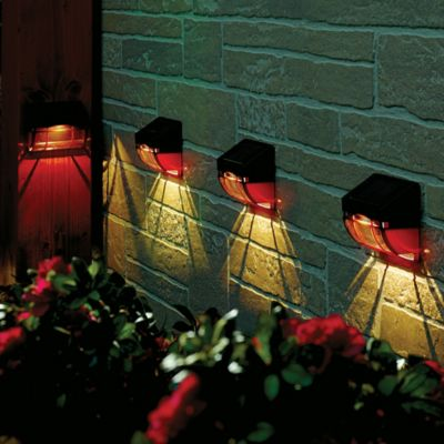 Mission Solar Wall Lights-Set of 4
