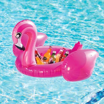 Inflatable Flamingo Floating Cooler