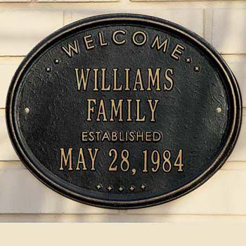 Personalized Family Established Plaque