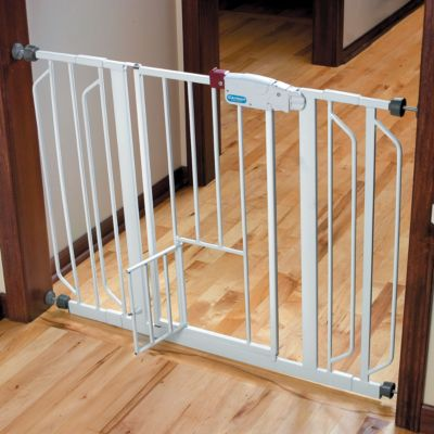 Extra-Tall and Extra-Wide Walk-Through Pet Gates with Small