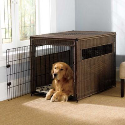 Resin Wicker Dog Crate