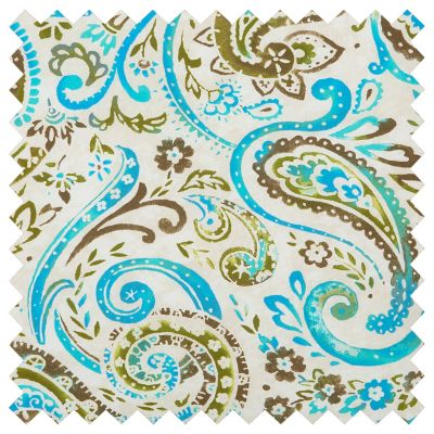 Outdoor Cushions-Ocean Blue Paisley Print