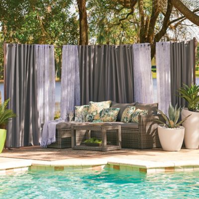 Outdoor Curtain Rod with 2 Posts