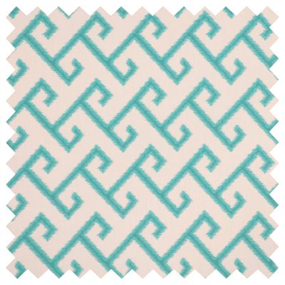 Sunbrella Outdoor Cushions-El Greco Greek Key Teal