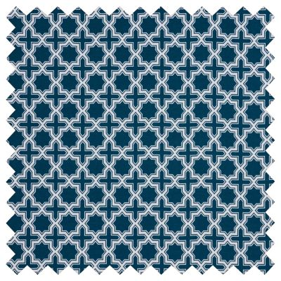 Sunbrella Outdoor Cushions-Wander Cross Star Indigo