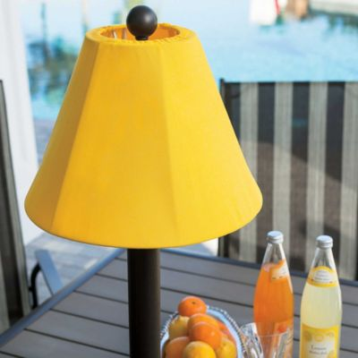 Umbrella Table Lamp And Sunbrella Fabric Shade Cover