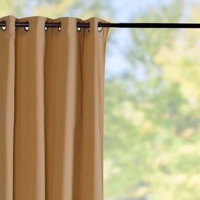 Sunbrella Outdoor Curtain Panel-Camel