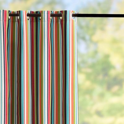 Sunbrella Outdoor Curtain Panel-Carousel Confetti Stripe