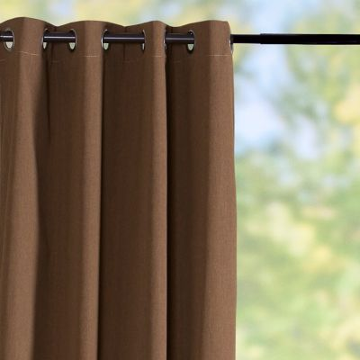 Sunbrella Outdoor Curtain Panel-Teak