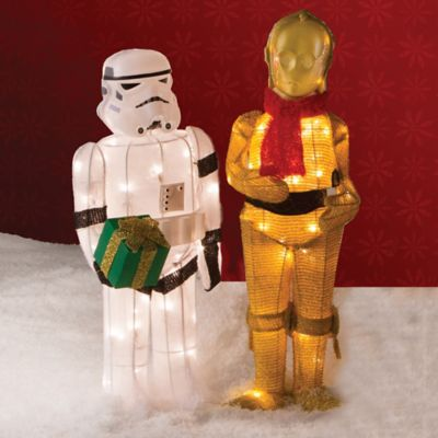 Star Wars Tinsel Storm Trooper with Gift