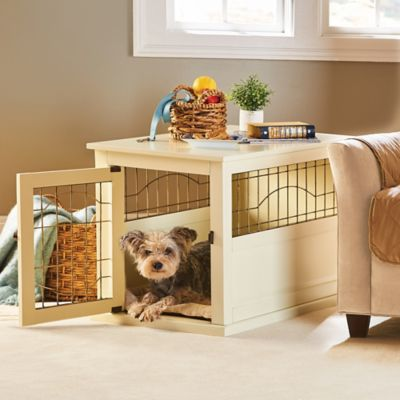 Shelton Wood Dog Crate Table