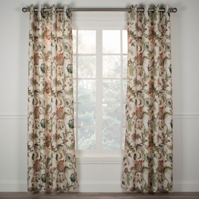 Brissac Jacobean Lined Grommet Curtains
