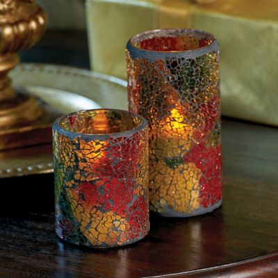 Mosaic Flameless LED Candle