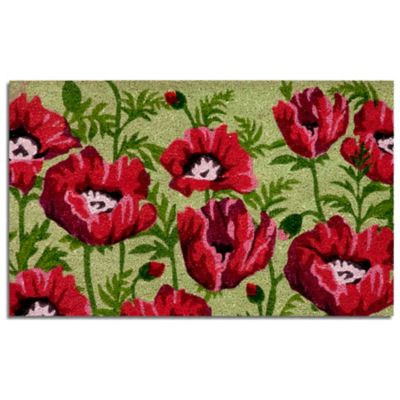 Field of Poppies Coir Mat