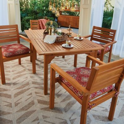 Eucalyptus Expandable Dining Table and Chairs