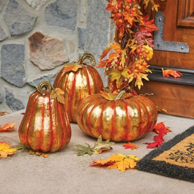 Gilded Decorative Pumpkins
