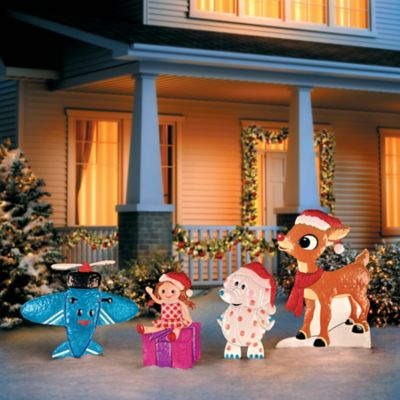 Rudolph and Misfit Toys Christmas Yard Decor