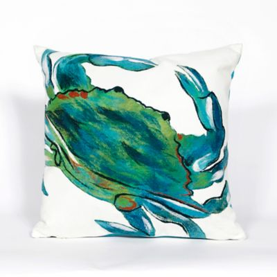 Watercolor Crab Outdoor Pillow