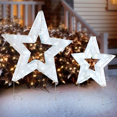 Christmas Stars with LED Light Show