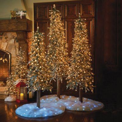 Flocked Alpine Pine Christmas Trees