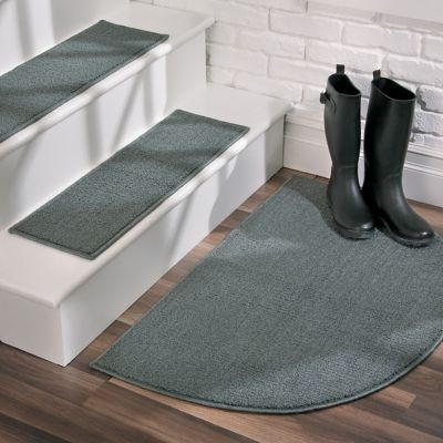 Kimberly Solid Slip-Resistant Rugs & Stair Treads