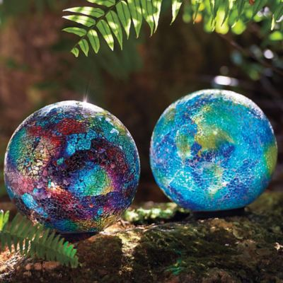 Illuminated Mosaic Gazing Ball