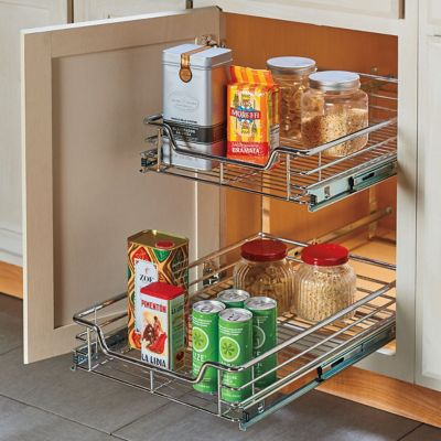 2-Tier Independent Pull-Out Drawer Organizer