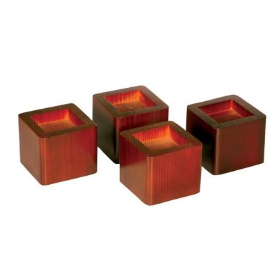 Solid Wood Bed Risers-Set of 4