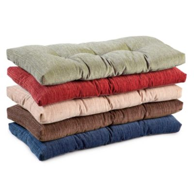 Chenille Tufted Bench Cushions | Improvements Catalog