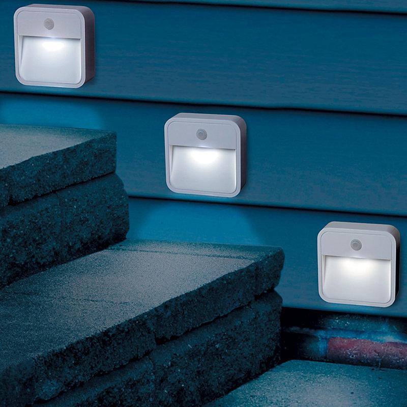 Motion Sensor Outdoor Lights-Set of 3