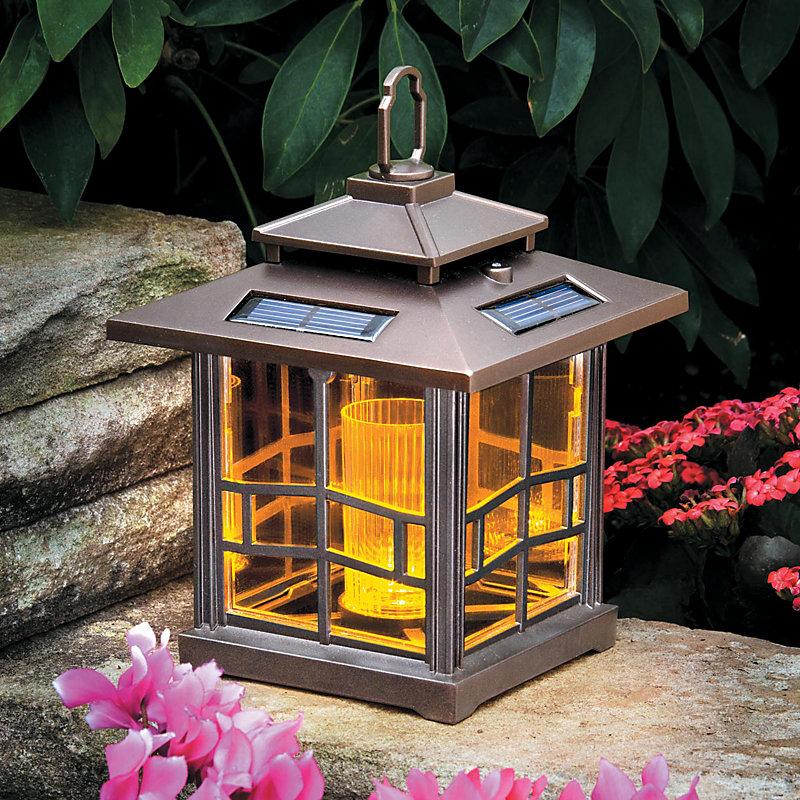 Mission Style Solar Lantern-Bronze