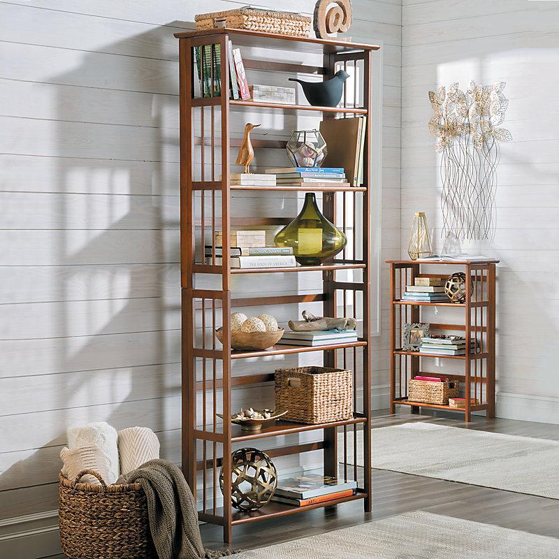3-Tier Folding Bookcase-27-1/4