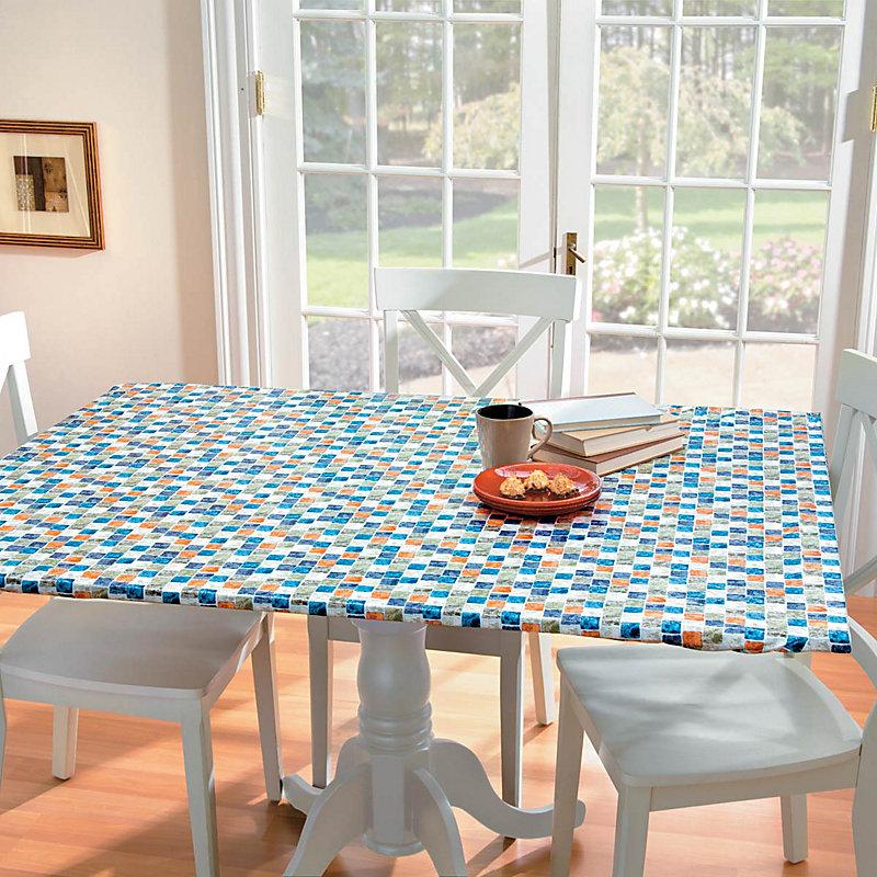 Medium Oblong Table Cover - Tan Medallion - Improvements