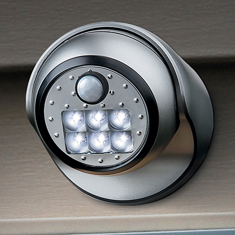 Porch Light with Motion Sensor LED - Titanium
