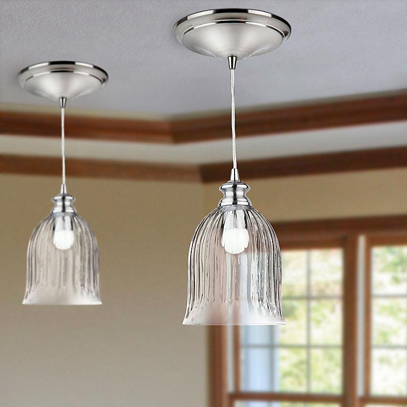 Ribbed Glass Instant Pendant Light
