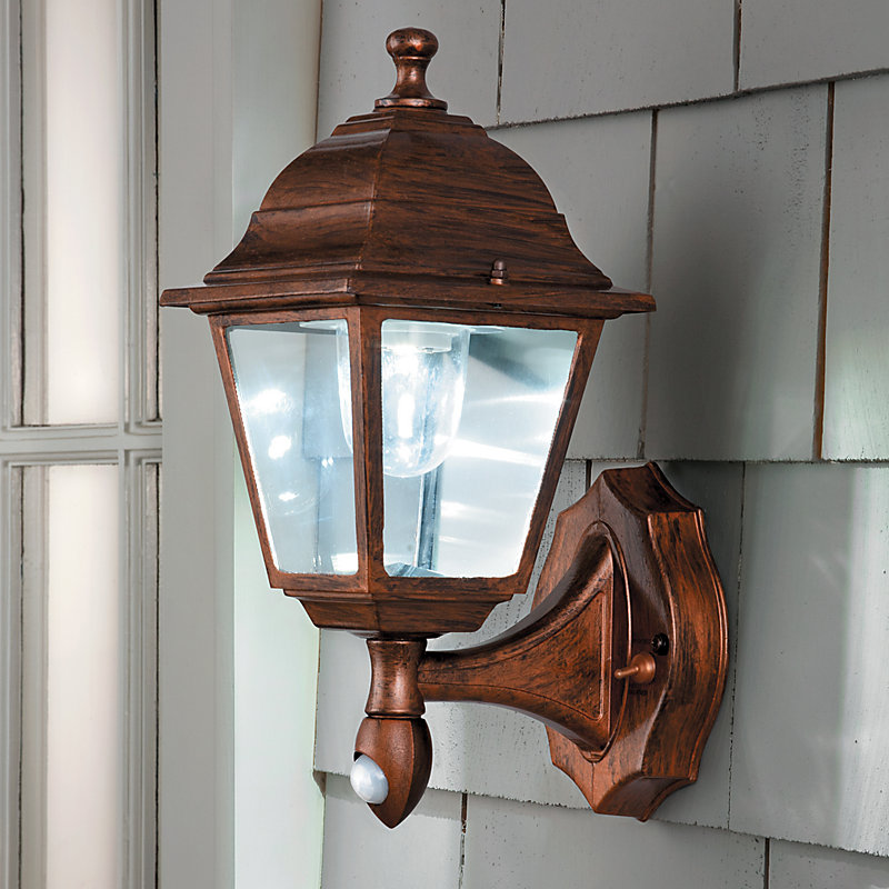 Motion Activated Wall Sconce - Black