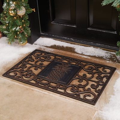 Savannah Scroll Rubber Door Mats