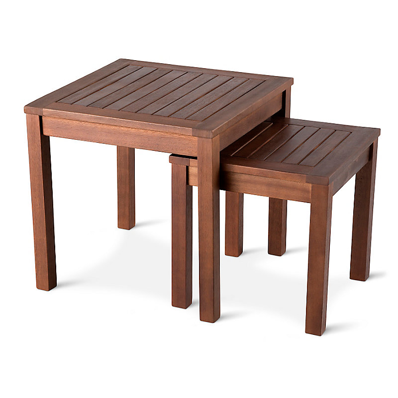 Eucalyptus Nesting Tables-Set of 2 - Walnut