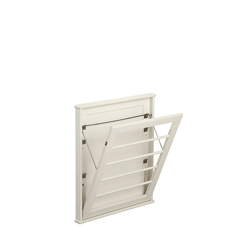 Space Saving Wall Mount Drying Rack-Small - Soft White - ...