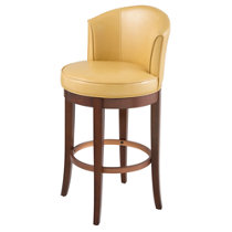 Marseille Resin Wicker Round High Back Bar Stool 45 Quot H