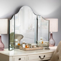 Tri Fold Wall Mirror over | the | door triple view mirror | improvements catalog