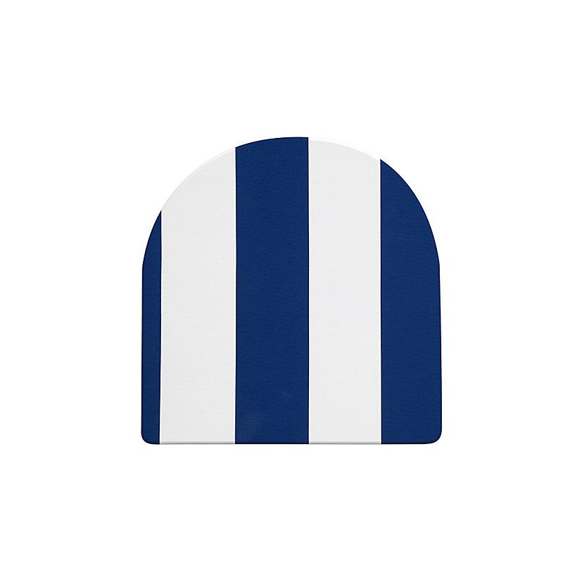 "Patio Seat Cushion 19""x19-1/2""x3"" - Blue/White Stripe - I..."