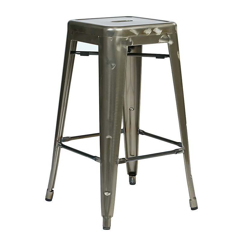 Alfresco Metal Counter Stool-Set of 2 - Gunmetal