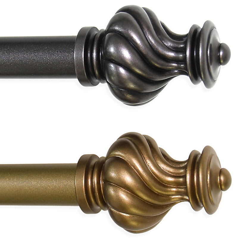 Soho Curtain Rod with Scepter Finial-86