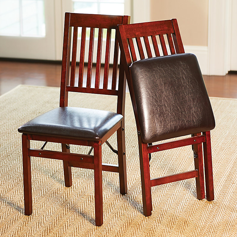 Hamilton Wood Folding Dining Chairs-Set of 2 - Red