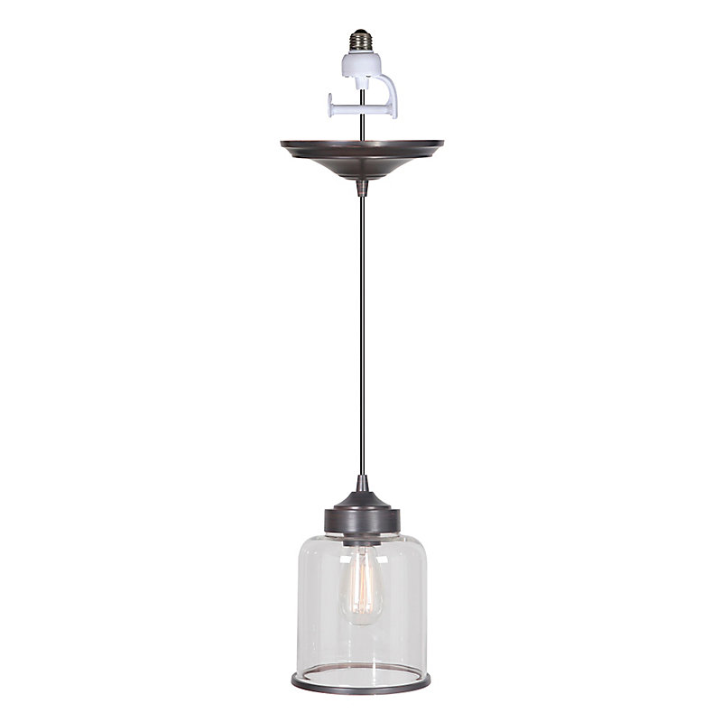 Glass Shade Instant Pendant Light